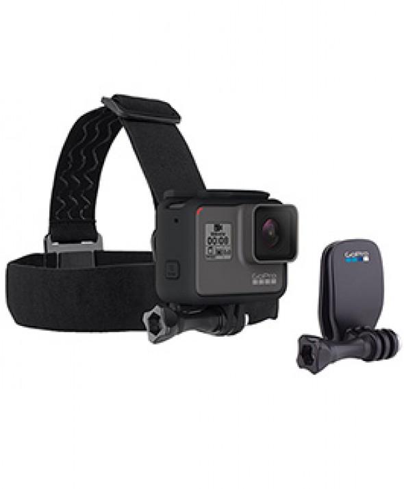 Крепление на голову с прищепкой для камеры GoPro Head Strap + QuickClip