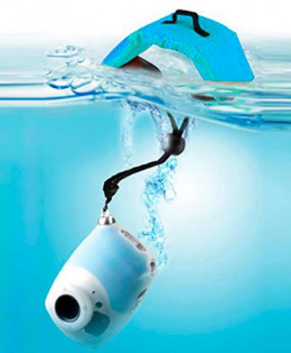 Ремешок - Поплавок на запястье для фото и видео камер синий