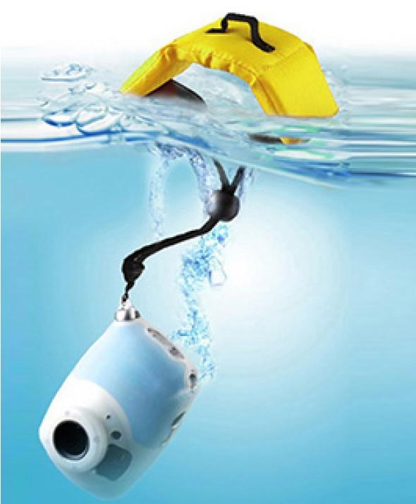 Ремешок - Поплавок на запястье для фото и видео камер желтый